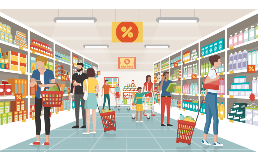 Les 6 commandements des courses au supermarché : mieux, tumangeras!
