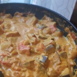 Curry d'aubergines facile, épicé et savoureux